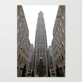 Rockefeller Plaza Christmas Tree Canvas Print