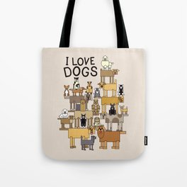 I Love Dogs Tote Bag