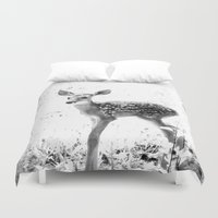 fawn Duvet Covers featuring fawn by 2sweet4words Designs