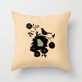Georgia - State Papercut Print Throw Pillow
