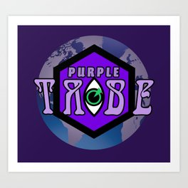 Purple Tribe1 Art Print