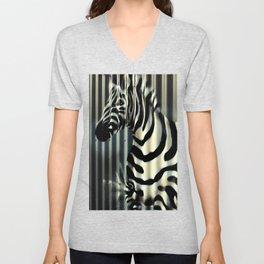 Street Zebra Unisex V-Neck