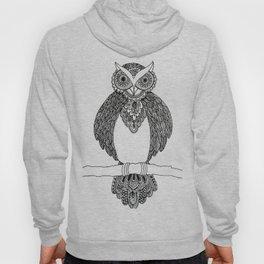 Intricate night owl doodle Hoody