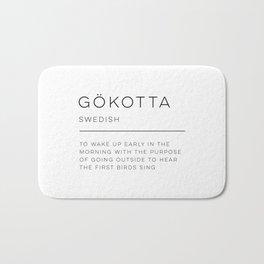Gökotta Definition Bath Mat