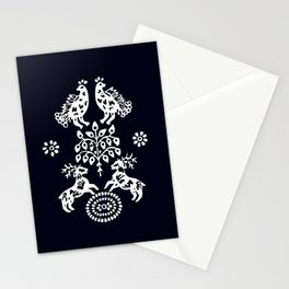 Blueprint deers, birds and Tree od life Stationery Cards