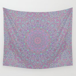 Funky Psychedelic Colorful Hippie Boho Mandala 2 Wall Tapestry