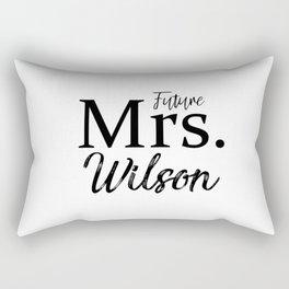 Future Mrs Slouchy Tee Shirt. Bride T-Shirt. Bachelorette Party Shirt. Bridal Shower Shirt. Bridal S Rectangular Pillow