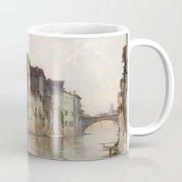 Bartolomeo Bezzi - L'acqua morta - Italian Vintage Retro Fine Art Oil Painting Coffee Mug