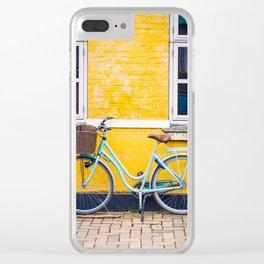 Bike and yellow Clear iPhone Case