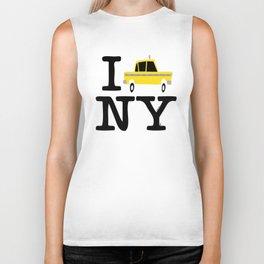 New York Yellow Cab logo Biker Tank