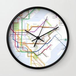 New York City Metro Station Wall Clock