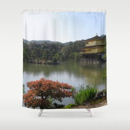 The Golden Pavilion II Shower Curtain