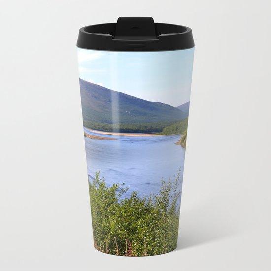 River Landscape Metal Travel Mug