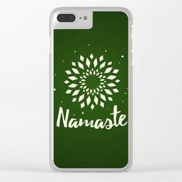 Namaste Mandala Flower Power Clear iPhone Case