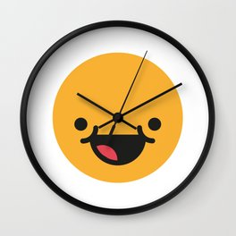 Emojis: Happy Wall Clock