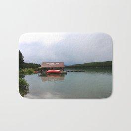 Maligne Lake Boathouse Bath Mat