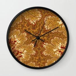 Golden Tangerine Fancy Wall Clock