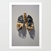 Lead Lungs Art Print