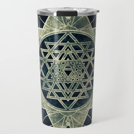 Sacred Geometry for your daily life- SRI YANTRA Travel Mug