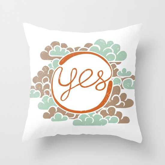 yes Throw Pillow