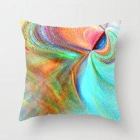 flight Throw Pillows featuring Flight by Sandy Moulder