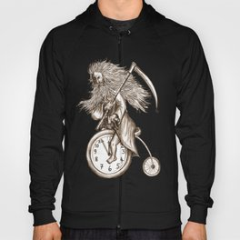 Father Time on a Penny Farthing Hoody