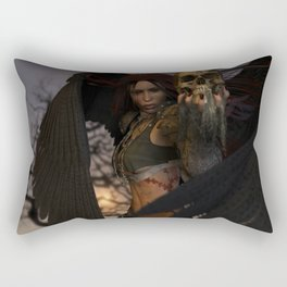 The Morrigan's Acorn Rectangular Pillow