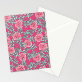 Roses Pink Stationery Cards