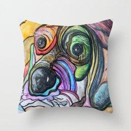 Blue Tick Hound Throw Pillow