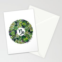 Capricorn in Petrykivka Style (with signature) Stationery Cards