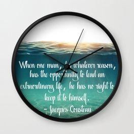 Extraordinary Life Wall Clock