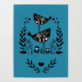 Danish Birds Bring Good Luck And A Good Life Poster