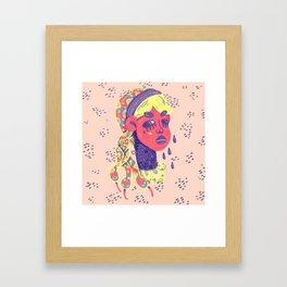 Angry medusa Framed Art Print