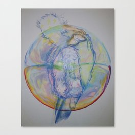 BUBBLE GURL Canvas Print