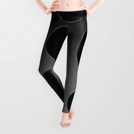 Contemporary Circle Silver and Black Leggings
