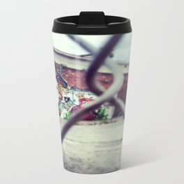 Girl on the Wall Travel Mug