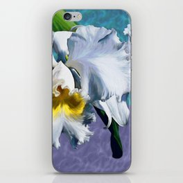 White Orchid Over Water iPhone Skin