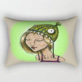 Fish Hat Rectangular Pillow