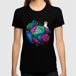 Pride Polysexual D20 Tabletop RPG Gaming Dice T-shirt