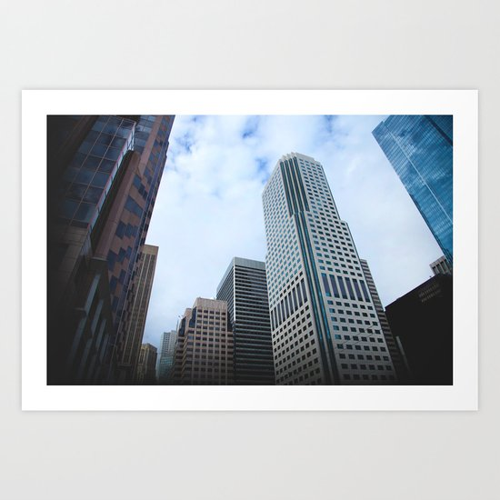 Never Look Down, Always Look Up Art Print