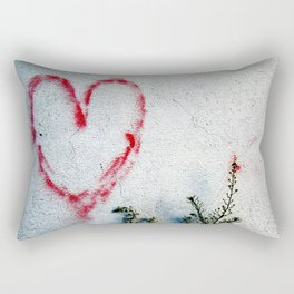 Minimal Flora Love Plant Rectangular Pillow