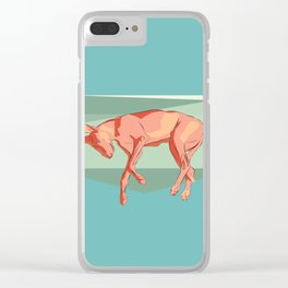Greyhound on light. Clear iPhone Case