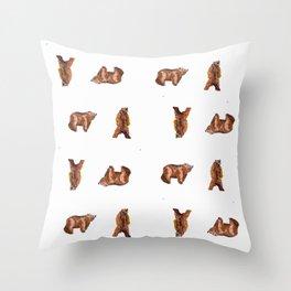 Bear Maze Throw Pillow