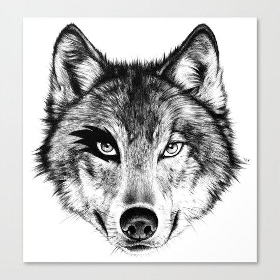 The Wolf Next Door Canvas Print