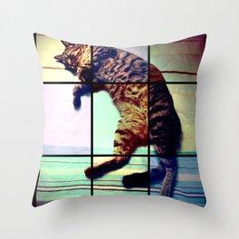 Cat (mosaico) Throw Pillow