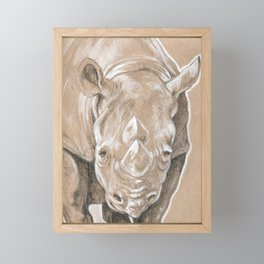 Boone the Rhino Framed Mini Art Print