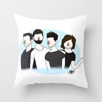 bastille Throw Pillows featuring Bastille v2 by Eriboo