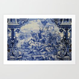 Portuguese traditional tile artwork Art Print