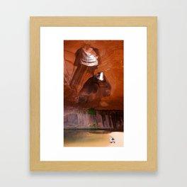 The Golden Cathedral Girl Framed Art Print