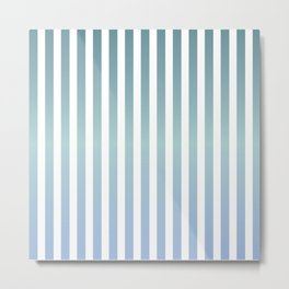 Mindful pinstripes Metal Print